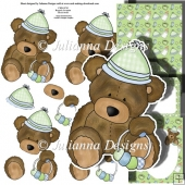Baby Ted with Rattle Decoupage Set