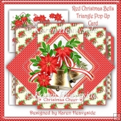 Red Christmas Bells Triangle Pop Up Card