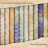 10 Distressed Torn Shabby Paper & Lace A4 Papers