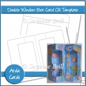 Double Window Box Card CU Template