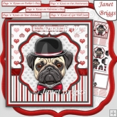 PUGS N KISSES 8x8 Various Occasions Decoupage & Insert Kit