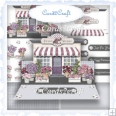 The Flower shop easel card set