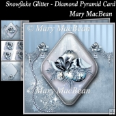 Snowlake Glitter - Diamond Pyramid Card