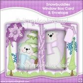 Snowbuddies Double Window Box Card