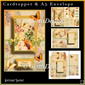 Cardtopper with Matching Envelope Orange 731