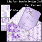 Lilac Posy - Stand-up Envelope Card
