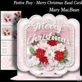 Festive Posy - Merry Christmas Easel Card