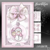 Baby Girl Snowman Bauble Mini Kit