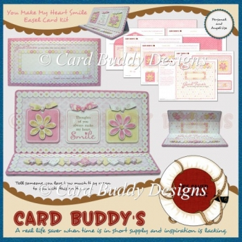 You Make My Heart Smile Easel Card Kit