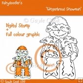 "Fairydoodler's ""Gingerbread Snowman"" Digital Stamp"