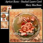 Apricot Roses - Stacked Layers Card