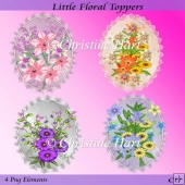 Little Floral Toppers Png CU