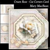 Cream Rose - Cut Corners Card