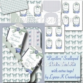 PAPILLON - Scalloped Pocket Card Kit with lots of extra tags!