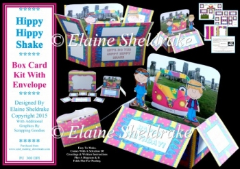 Hippy Hippy Shake - Pop Up Box Card Kit & Envelope