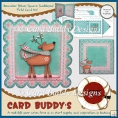 Reindeer Blues Square Scalloped Fold Card Kit