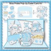 Blue Pirate Pop-Up Easel Card Kit