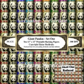 Giant Pandas - Set One - Ten 12 x 12 Printable Backing Papers