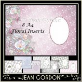 8 Floral A4 Inserts