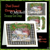 Plaid Framed Christmas Scene