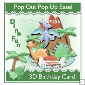 Dino Fun Pop Up/Pop Out Easel