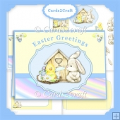 Easter bunny and chick card set