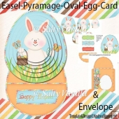 Easel Pyramage Card Hippity - Orange