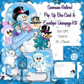 SNOWMEN GALORE CHRISTMAS 3D POP UP BOX CARD KIT