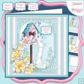 BUNNY DELIVERY 7.5 Decoupage & Insert Card Kit