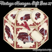 Vintage Car Hexagon Gift Box 27