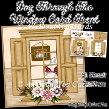 Dog Through The Window Card Front