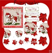 Christmas carousel 6x6 Pyramage card kit