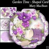 Garden Time - Shaped Card