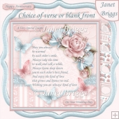 ALWAYS KIND OF LOVE VERSE or BLANK 7.5 Decoupage & Insert Kit