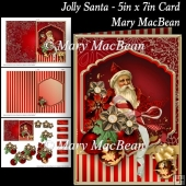 Jolly Santa - 5in x 7in Card