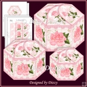 Rose Repose Hexagonal Gift Boxes