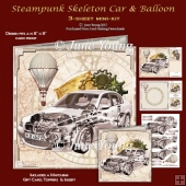 Steampunk - Skeleton Car & Balloon