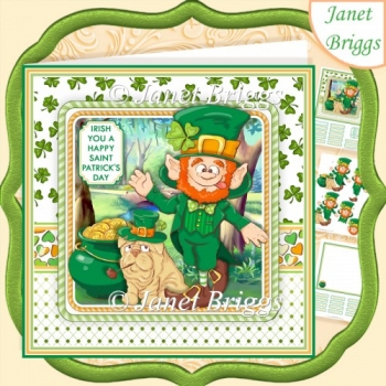 SAINT PATRICK'S DAY 7.5 Decoupage & Insert Card Kit