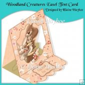 Woodland Creatures Easel Tent Card