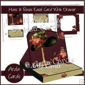 Hats & Roses Easel Card With Drawer