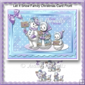 Let It Snow Family Christmas Card Front