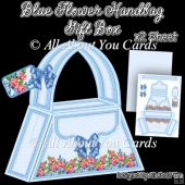 Blue Flowers Handbag Gift Box