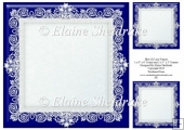 "Blue (2) Lace Frames - One 8"" x 8"" and Two 3"" x 3"""