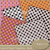 Layered Paper Templates - Spots
