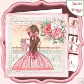 ROSE GIRL 7.5 Decoupage & Insert Mini Kit