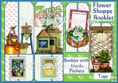 Flower Shoppe Tag Booklet Greeting Card Set