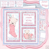 COSY CHRISTMAS SQUARES PINK 7.5 Quick Layer Card & Insert