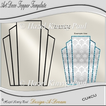 Art Deco Topper Template