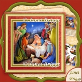 Christmas Nativity Reason For The Season 8x8 Decoupage Kit