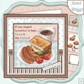 BREAKFAST IN BED 7.5 Decoupage & Insert Mini Kit All Occasions